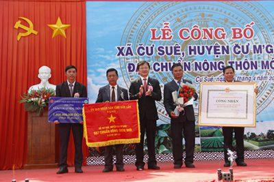 Công bố xã Cư Suê (huyện Cư M'gar) đạt chuẩn nông thôn mới